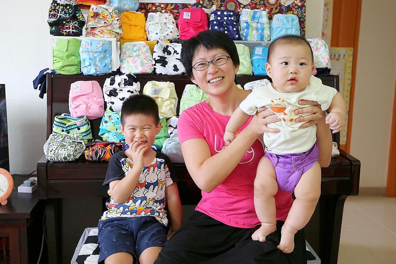 For Ms Irma Niza Jamal and her husband, Mr Mohammad Khirruddin Ismail, cost savings and attractive designs are main draws for using cloth diapers on daughter Eesha Naira.