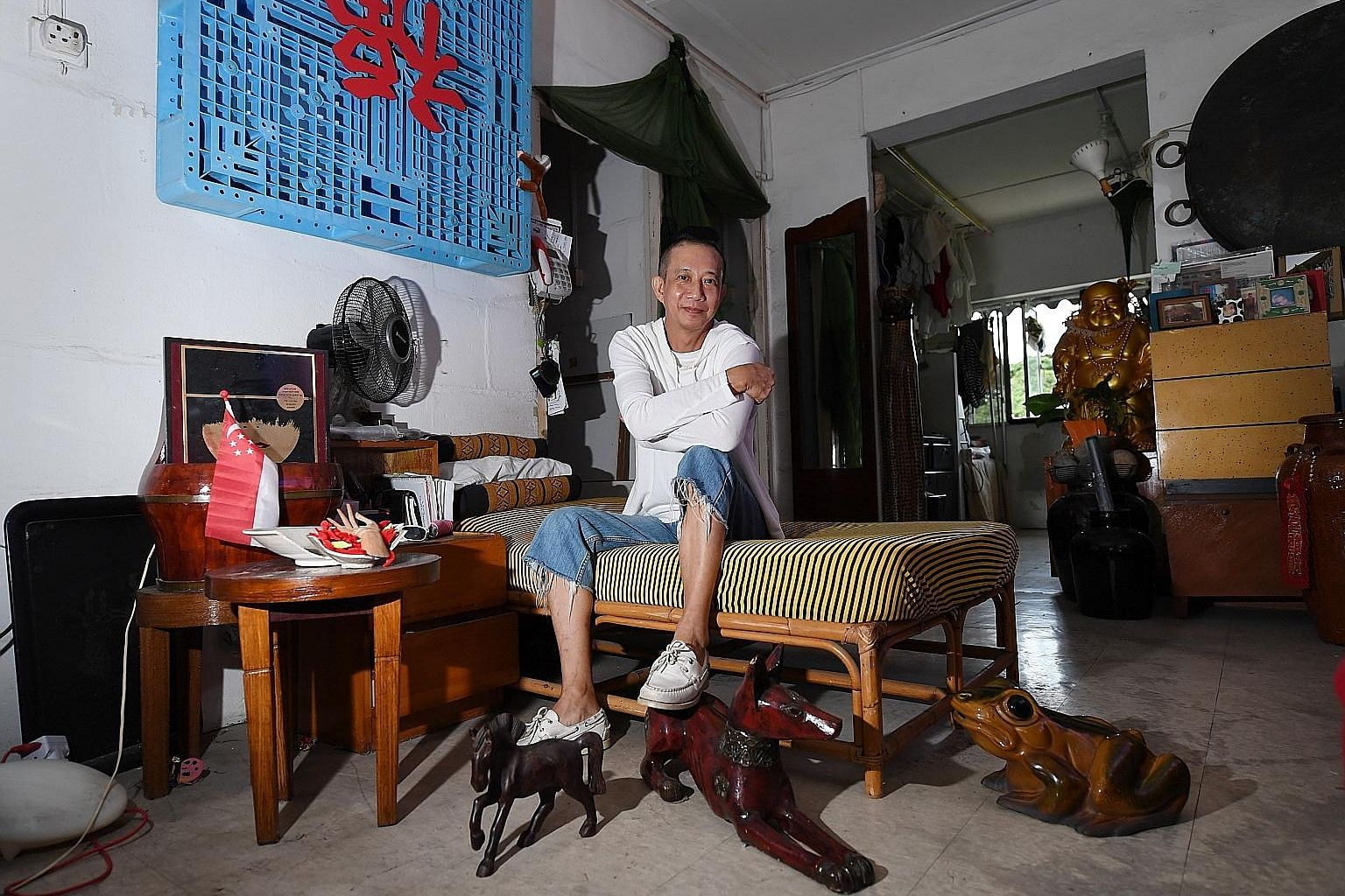 Mr Bilyy Koh is the only one left in Block 12 in Dakota Crescent. The 62-year-old will likely be moving to a new rental flat later this month after renovation work is done. Meanwhile, he takes it upon himself to share the history of the estate with h