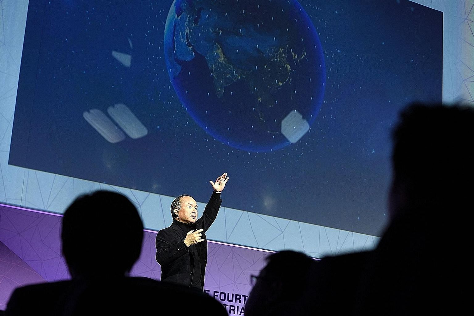"""SoftBank founder and CEO Masayoshi Son at the Mobile World Congress in Barcelona earlier this year. His decision in 1999 - reportedly based on his """"sense of smell"""" - to invest in a fledging online company called Alibaba has paid off spectacularly."""