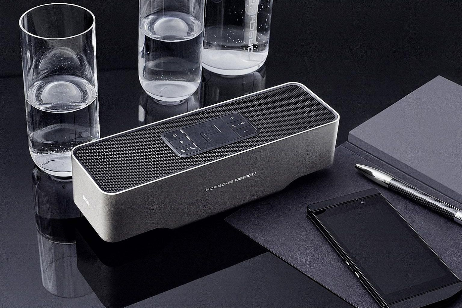 With the KEF Porsche Design Gravity One speaker, sound gets blasted upwards and around instead of in front as most speakers are designed to do.