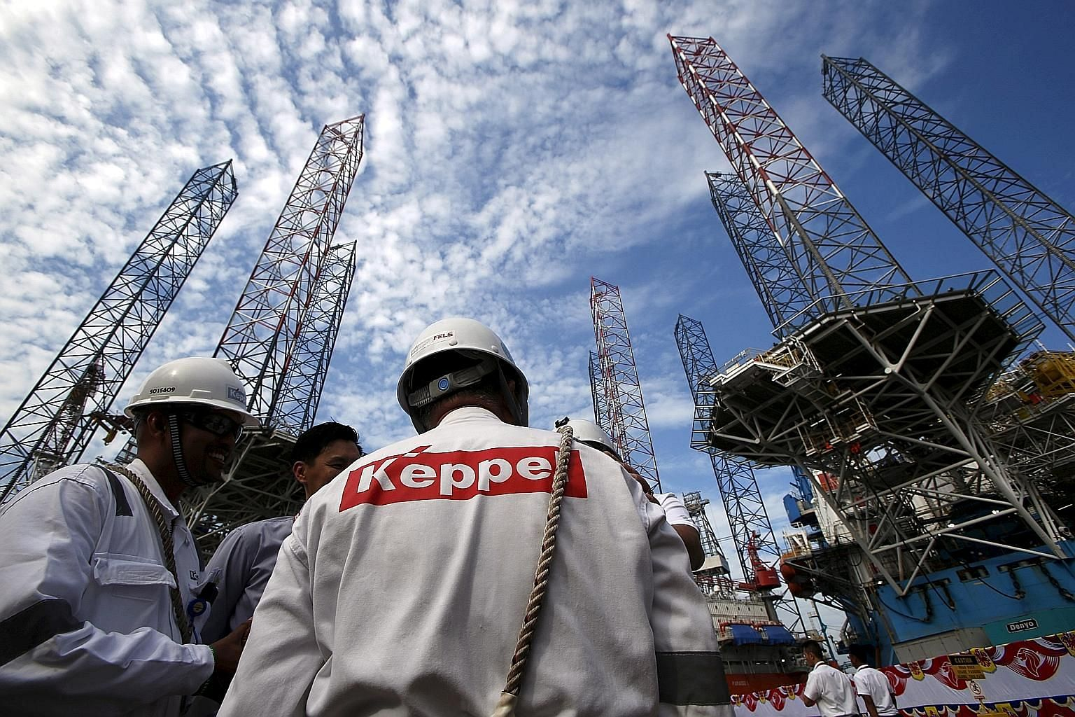 Keppel's group revenue slid 28.4 per cent to $1.25 billion, dragged down by the offshore and marine business, where turnover fell 41 per cent to $483 million. Operating profit came in at just $4 million due to lower volume of work.