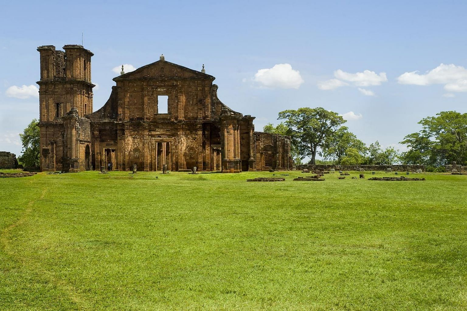 The ruins of Sao Miguel, one of the many Jesuit Missions in the south of Brazil.