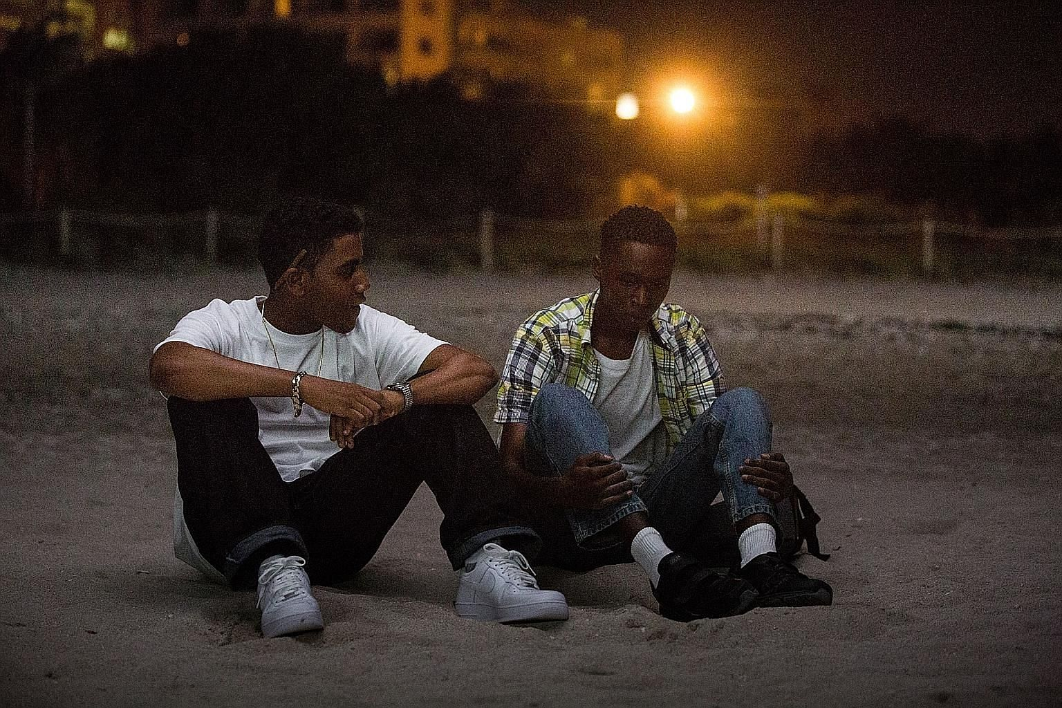 Jharrel Jerome (above left) and Ashton Sanders star in Moonlight, while Scoot McNairy plays an air traffic controller under investigation for a collision in Aftermath.