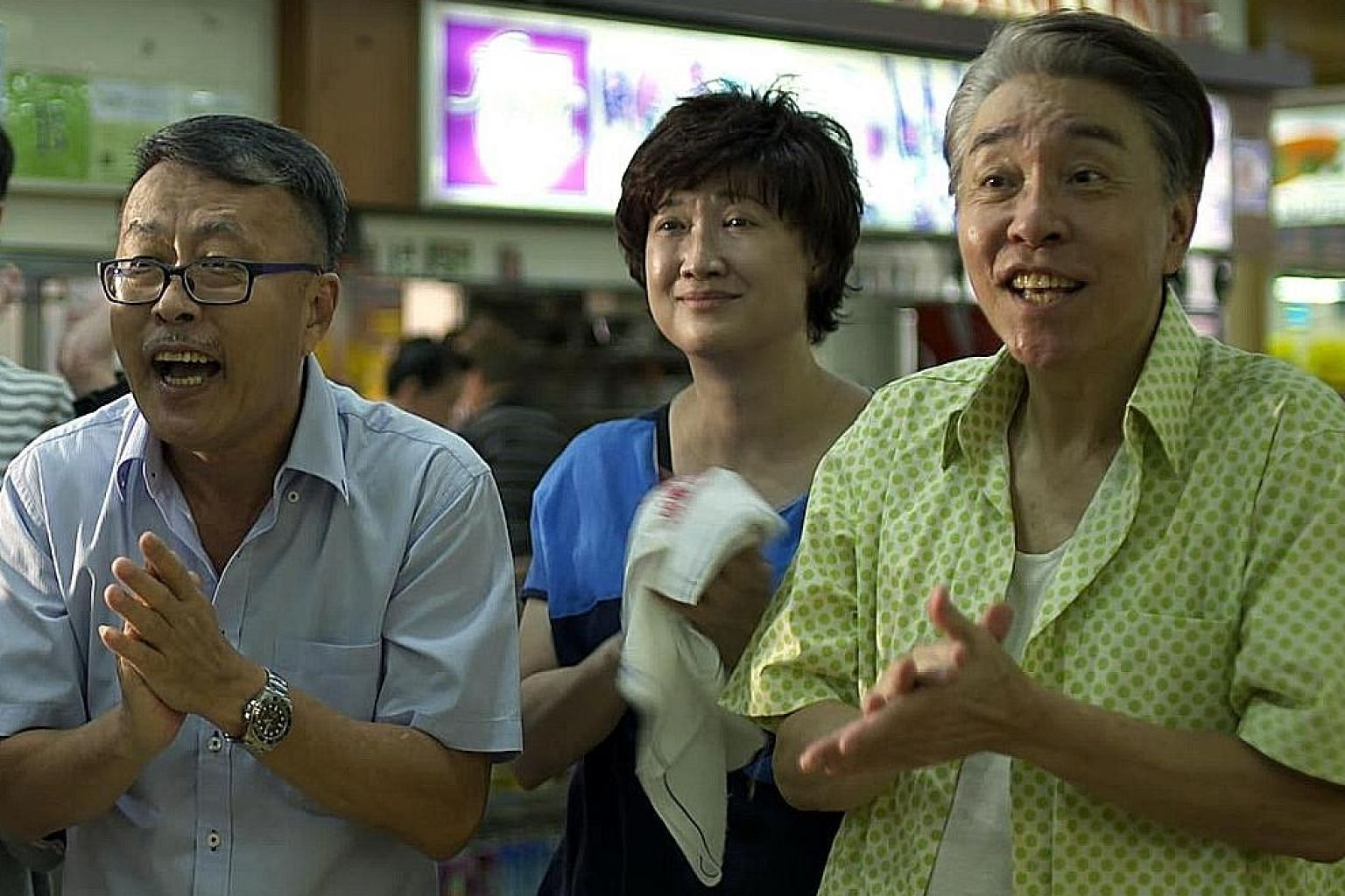 Eat Already? 2 (starring above from left, Ye Shipin, Hong Huifang and Chen Shucheng) is a dialect drama set in an alternate Singapore, while Kuo Shu-yao is a moonlighting temple medium who talks to ghosts in Hokkien.