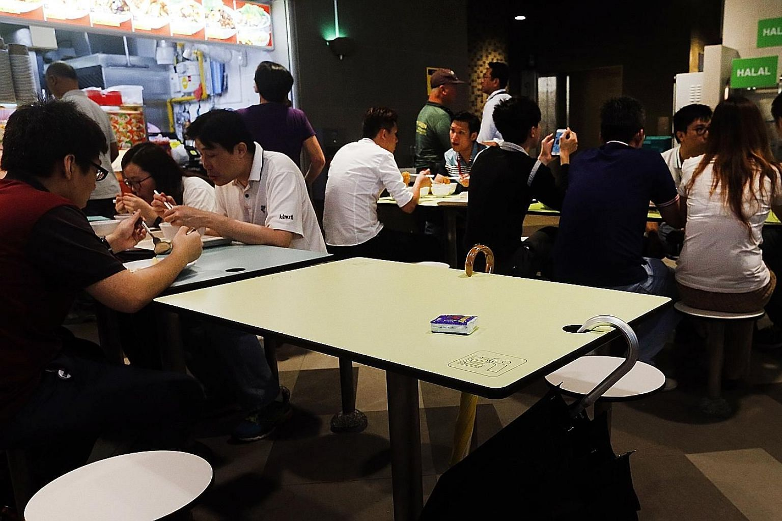 "Packets of tissues and umbrellas are some of the ugly signs of the ""chope"" culture prevalent in Singapore, but the best - and only justifiable - thing to do in a crowded food centre is to just share your table."