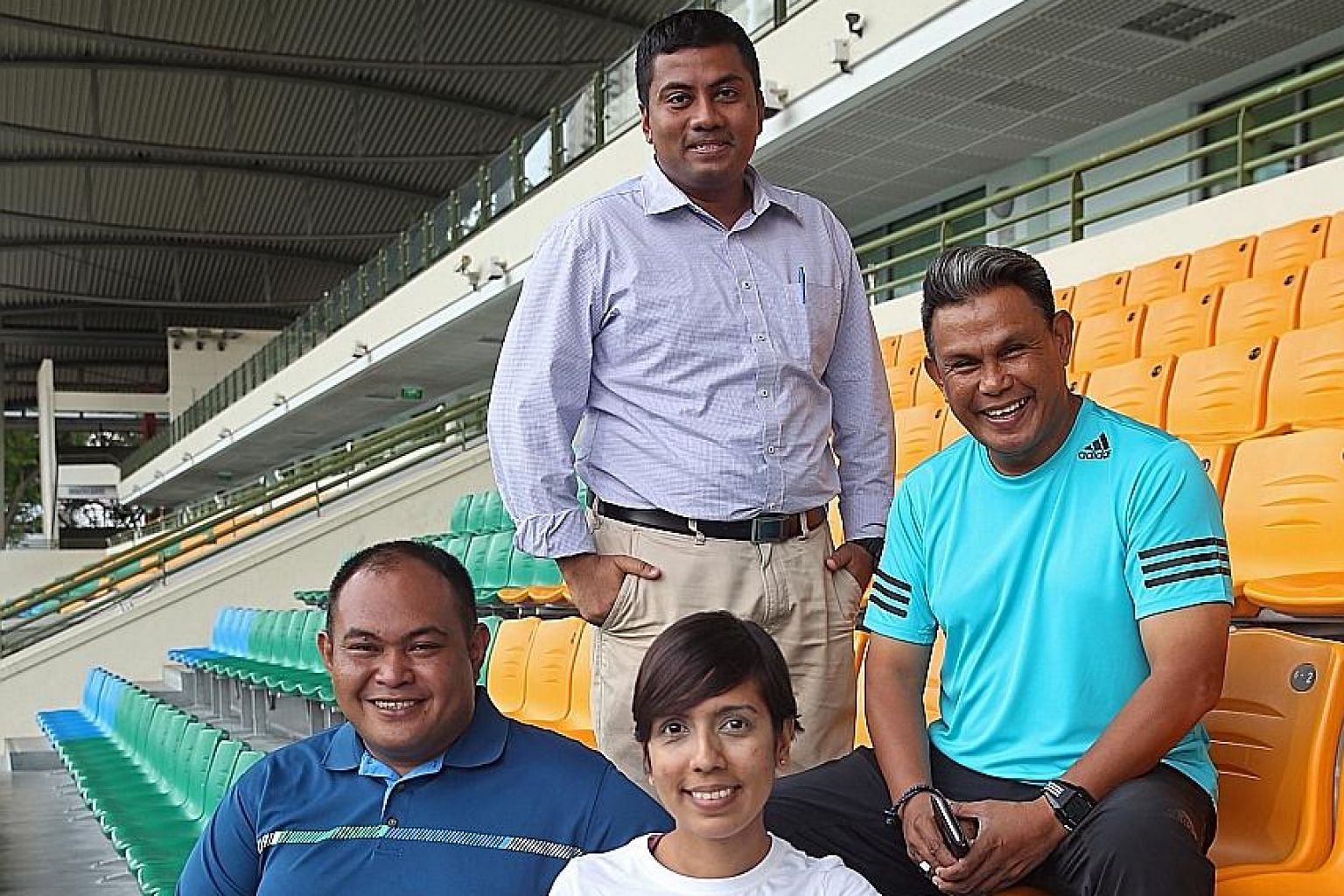 First-time FAS council members (clockwise from top) Rizal Rasudin, Yakob Hashim, Sharda Parvin and Darwin Jalil are keen to form much closer ties with the local grassroots and women's football scenes.
