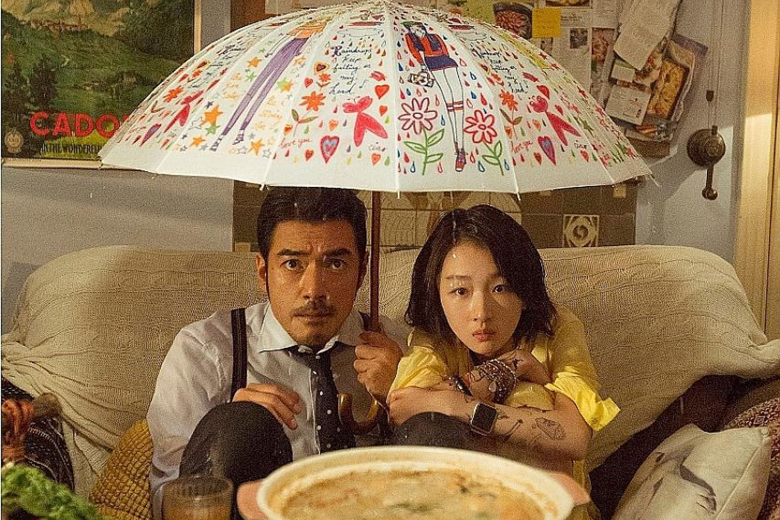 Takeshi Kaneshiro is the difficult-to- please foodie tycoon and Zhou Dongyu plays the talented sous chef in This Is Not What I Expected.