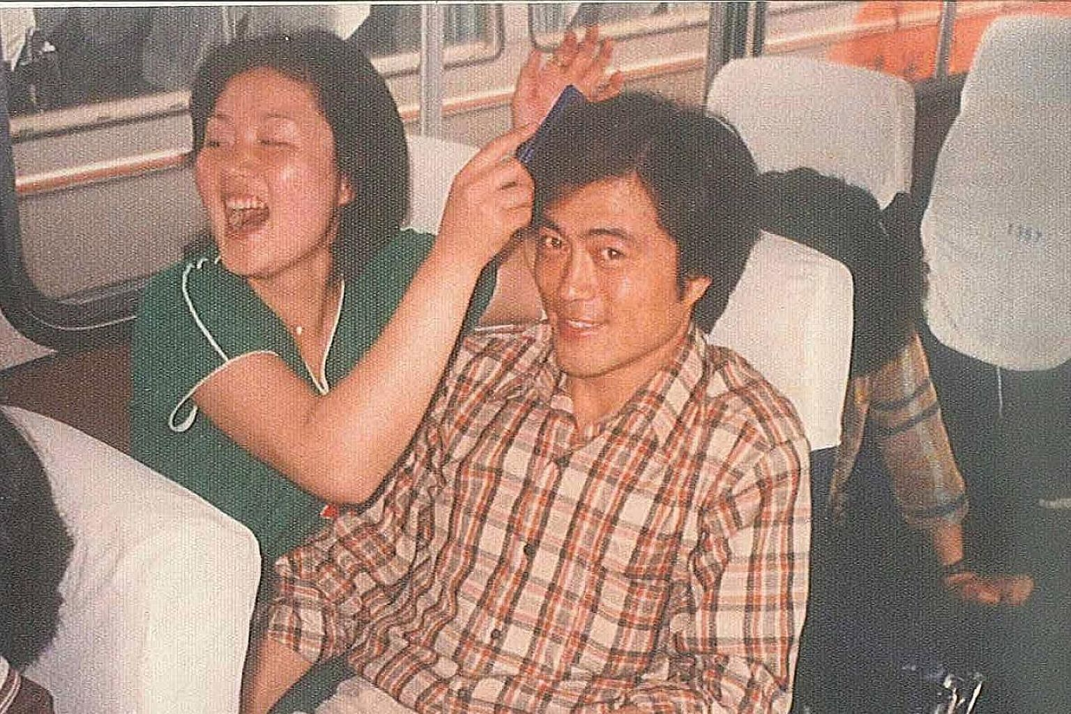An undated photo of Mr Moon Jae In and Madam Kim Jung Sook when they were college students.