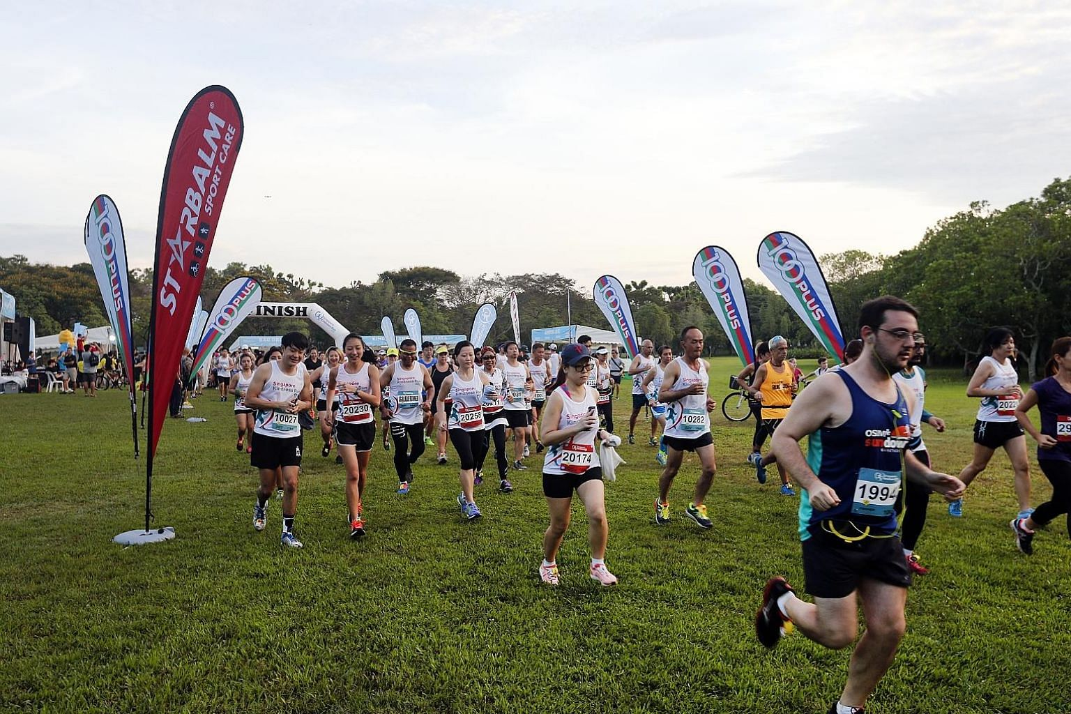 Participants in the first Singapore Kindness Run at Pasir Ris Park yesterday. During the event, 15 representatives of organisers Singapore Kindness Movement and Runners' Heart-Reach ran with participants to remind them about the tips, including keepi
