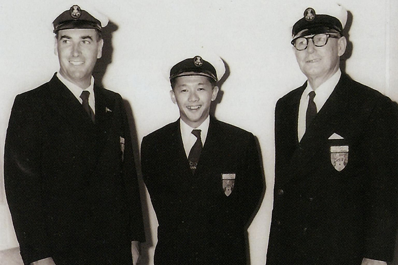 """This trio of sailors created history in 1956. Jack Snowden (left), Robert """"Bobby"""" Ho and Keith Johnson were among Singapore's first Olympians, competing at the Melbourne Olympics. The image is from the book Upwind and Winning: The Singular Story of S"""