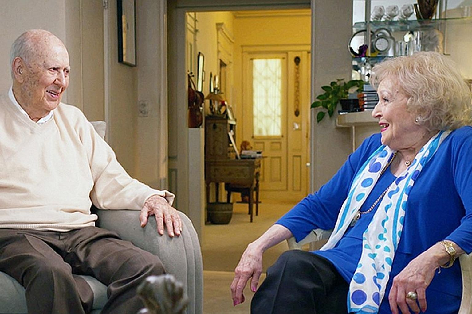 Carl Reiner and Betty White in If You're Not In The Obit, Eat Breakfast.