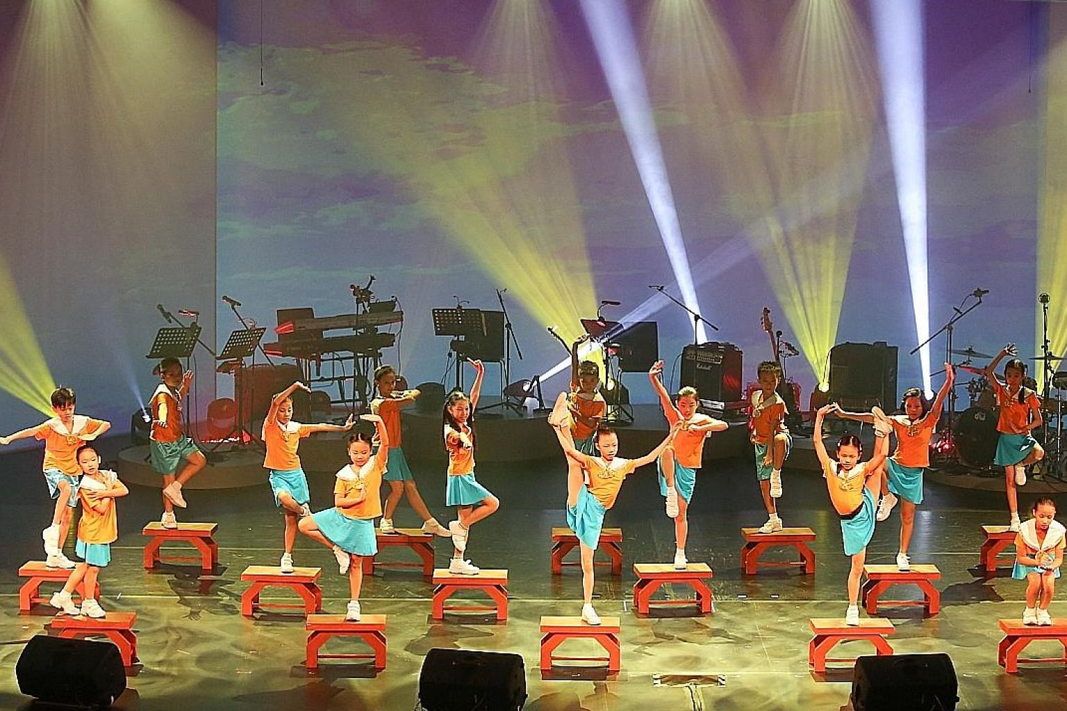 Dancers from the Singapore Hokkien Huay Kuan Arts and Cultural Troupe performing at the opening of the SCCC yesterday.