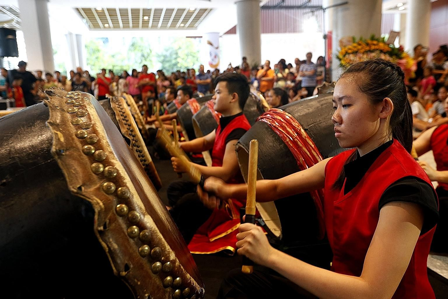 A spirited performance by the ZingO Festival Drum Group kicked off an eight-day cultural showcase at the Singapore Chinese Cultural Centre yesterday. The Singapore Chinese Cultural Contribution Award - which recognises those who have helped advance S