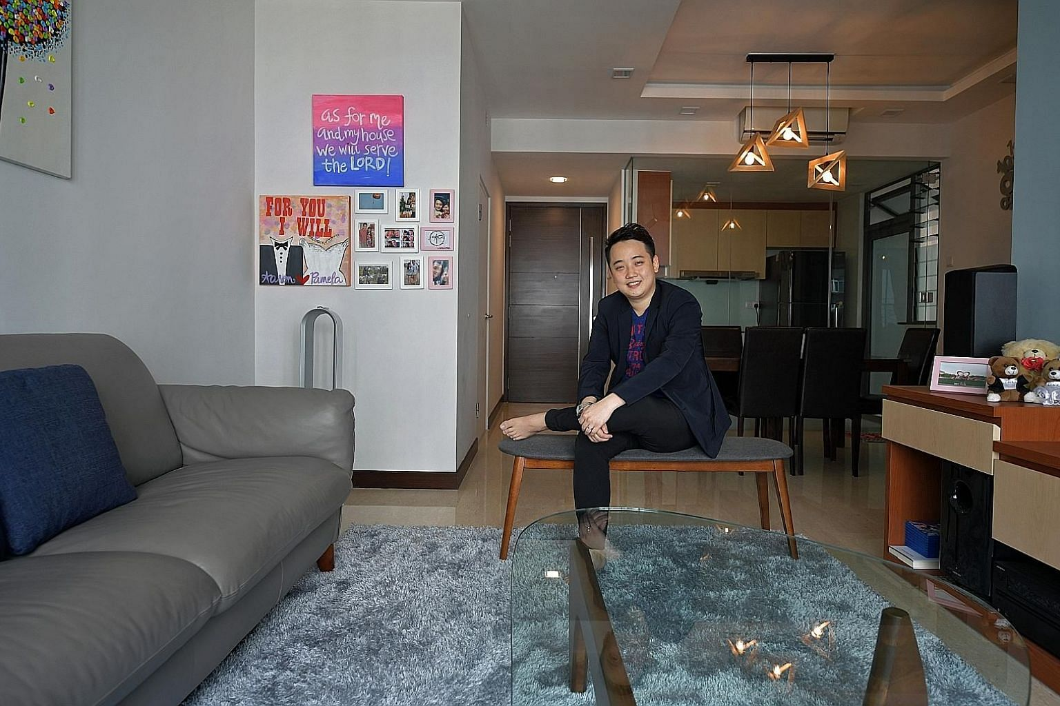 Mr Wan and his wife bought their matrimonial home in the Watermark in Robertson Quay after a long search. They bought the freehold two-bedroom unit at the condo in 2015 for $1.5 million. Mr Aaron Wan, 29, an associate director in a property firm, is