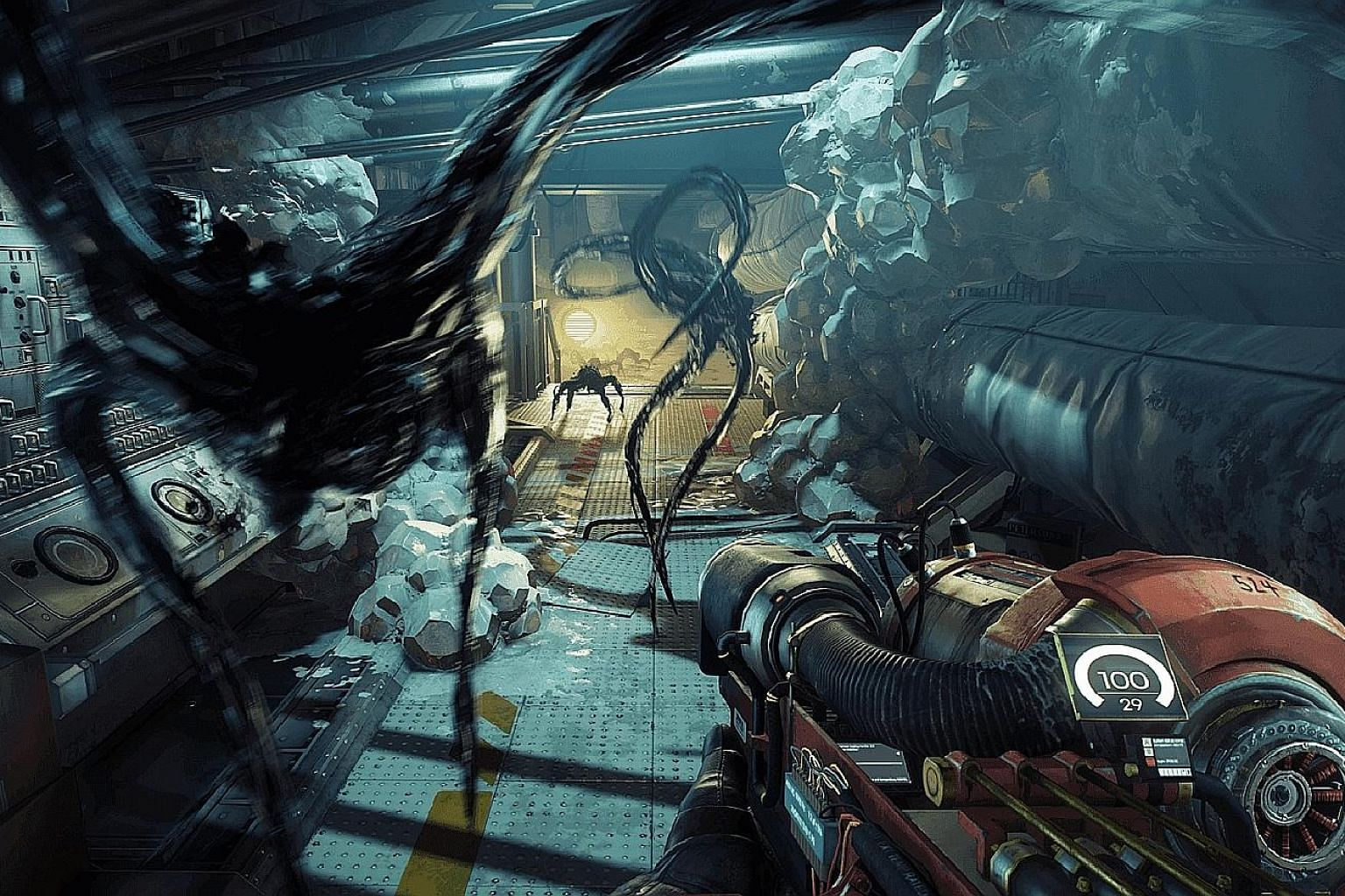 The haunting music and sound effects in Prey (2017), along with the superb graphics, add to the realism in the game. You will also get a shock each time a random item changes itself back into a Typhon.