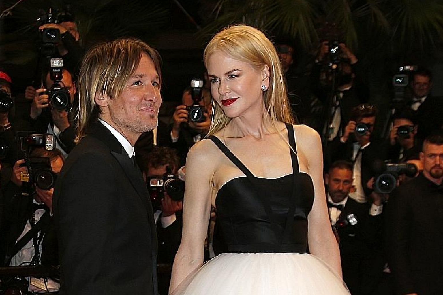 Australian actress Nicole Kidman and her husband, singer Keith Urban, at the premiere of her film, The Killing Of A Sacred Deer.