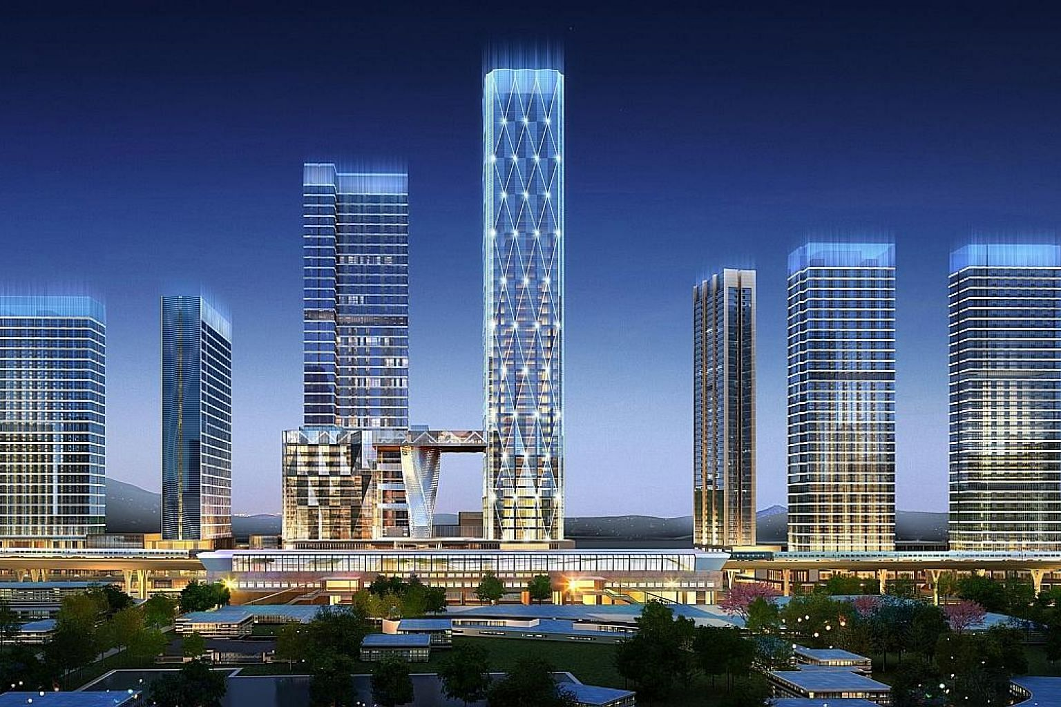Logan Property's Logan Carat Complex, an integrated development in Shenzhen. The firm, which recently placed a record bid of slightly over $1 billion with Nanshan Group for a Stirling Road site, says it has been paying close attention to certain over