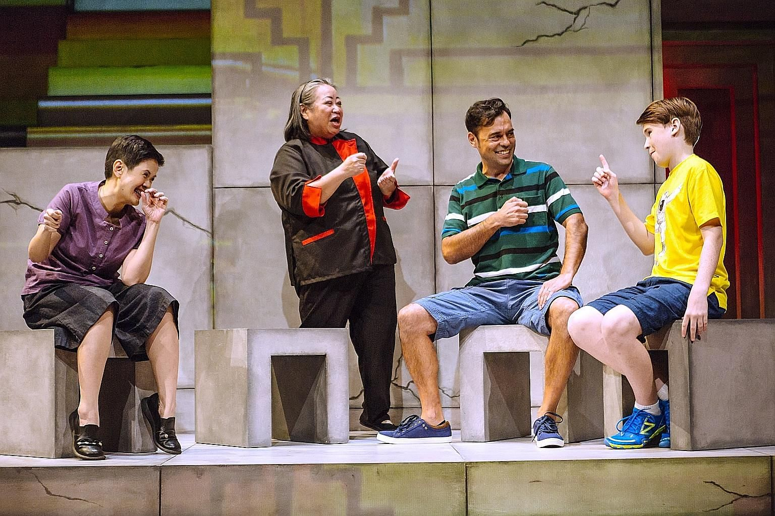Tango's cast includes (from left) Karen Tan, Lok Meng Chue, Emil Marwa and Dylan Jenkins. (Clockwise from top left) Cheryl Ong from SA, Safuan Johari from Nada, new media artist Brandon Tay, Rizman Putra from Nada, and Natalie Tse and Andy Chia from
