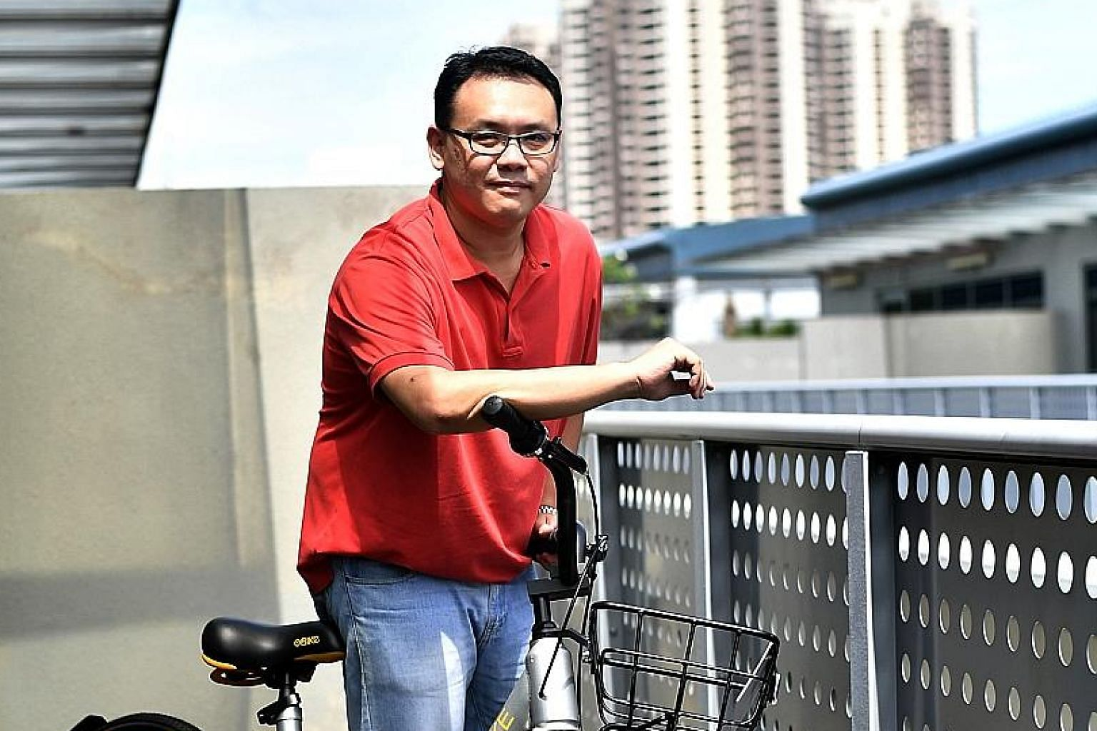 oBike general manager Elgin Ee is optimistic that as bike-sharing makes bicycles more accessible, more people will see cycling as a mode of transportation rather than as a leisure activity.