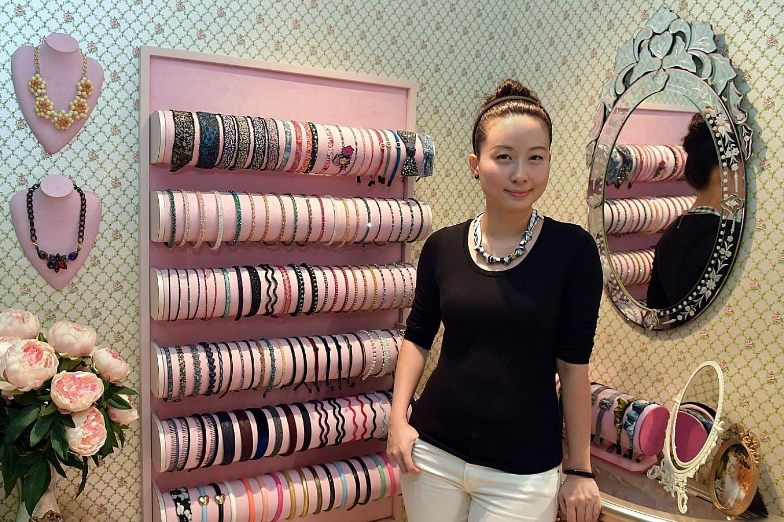 Pivoine founder Grace Lee posts photos of new accessories ahead of their launch to drum up interest among her small but loyal following. On a good day, she can sell 40 to 50 pieces of accessories.