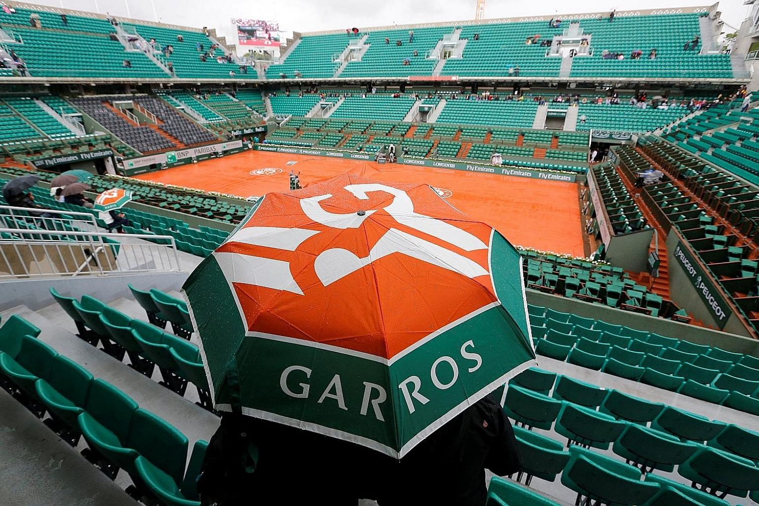 Rain halts play often at Roland Garros and conditions are tough when the ball gets wet and heavy. Ultimately, players just have to adjust.