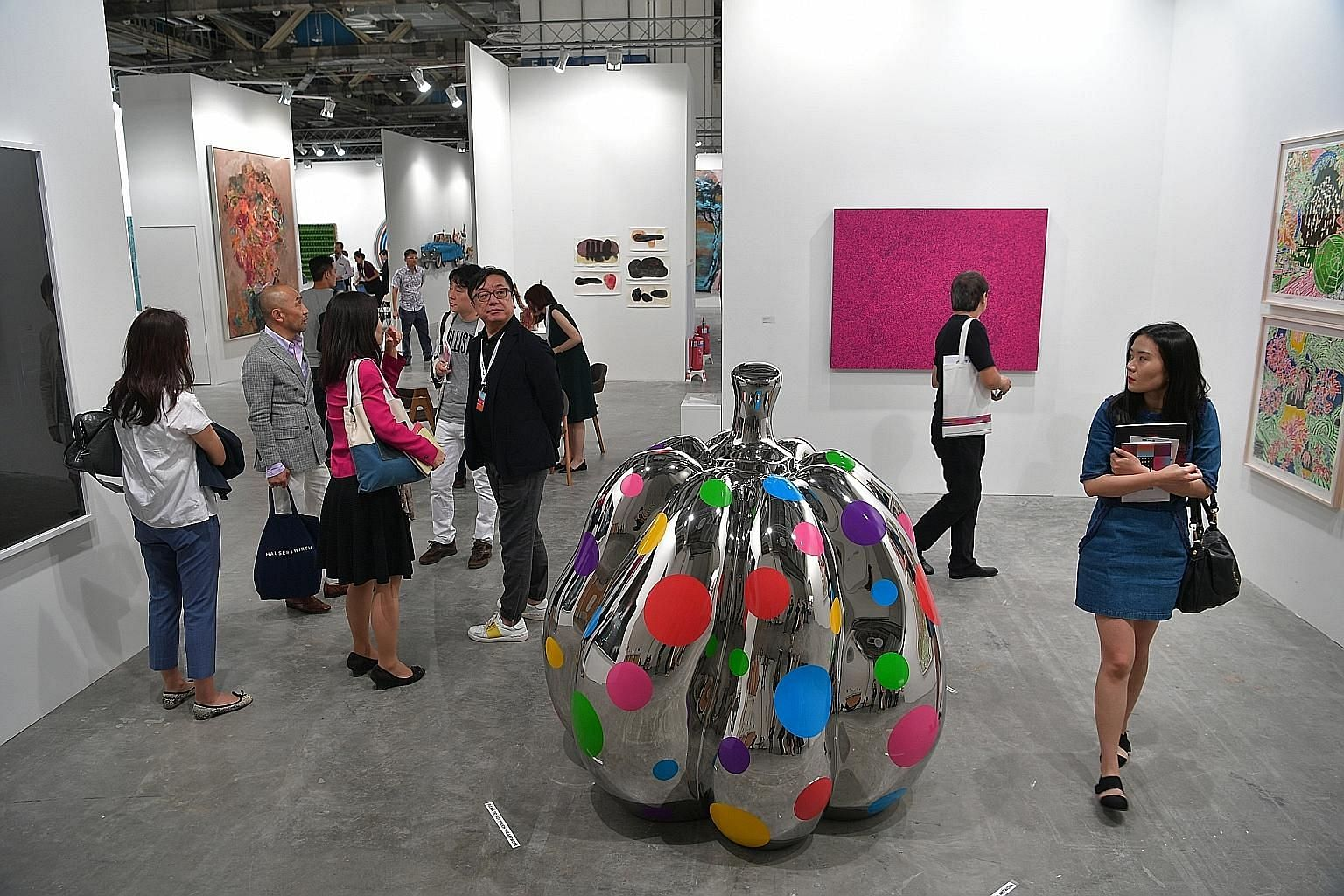 Visitors at this year's Art Stage Singapore, which was held at Marina Bay Sands Expo and Convention Centre in January.