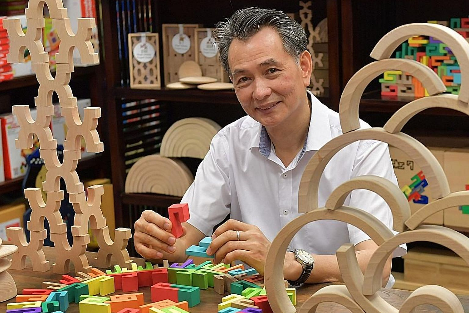 """After failing at several jobs, Mr Gary Seow started his own business in educational toys and learning resources. To him, dyslexia is a gift: """"As learning is so hard for me, it forces me to think out of the box and I find that the designs of my new to"""