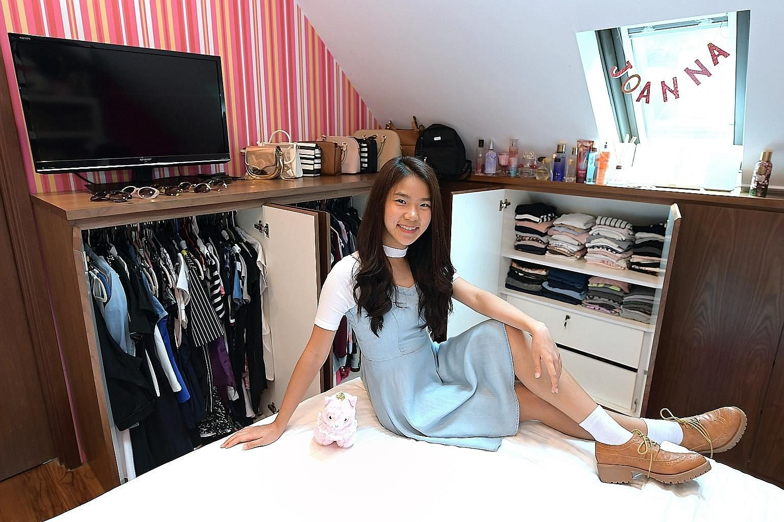 Joanna Theng believes in shopping smart and being creative to put together a perfect outfit.