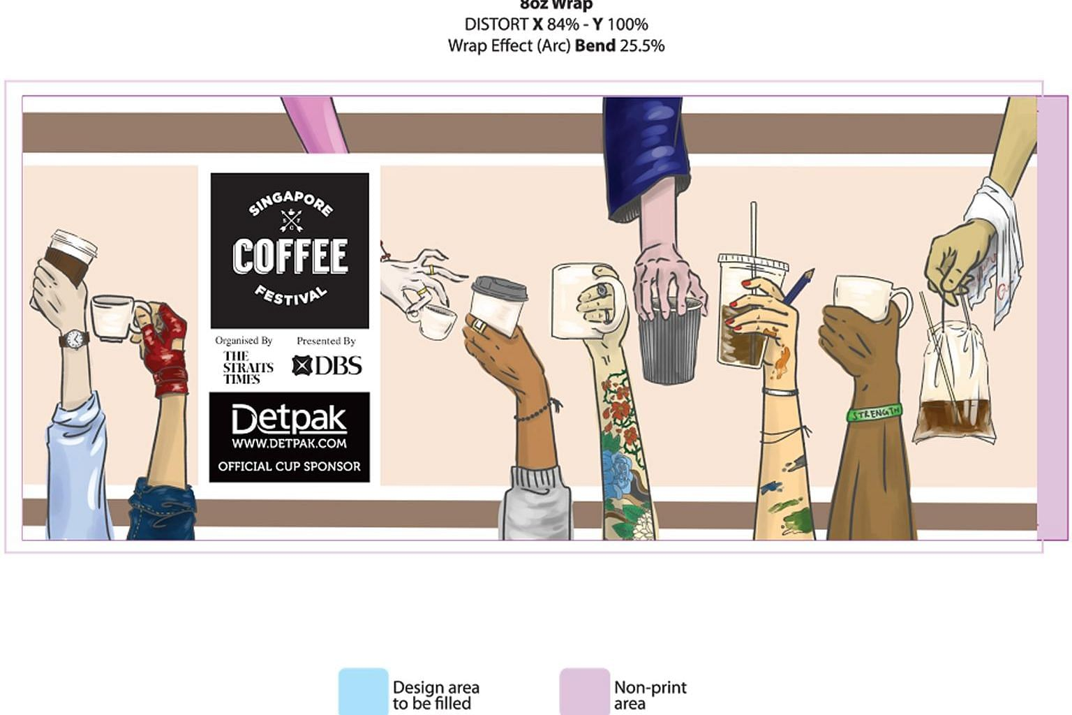 Ms Ellen Chee Shaowei's illustration beat 142 other entries for the Singapore Coffee Festival 2017's Design The Cup competition. Apart from being printed on cups distributed at the festival, it will be on display at several cafes prior to the event.