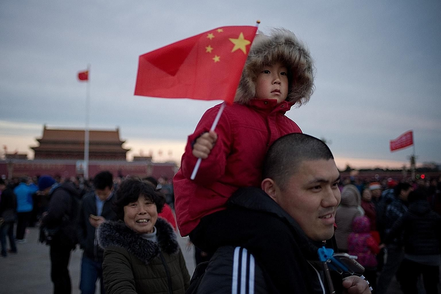 Crowds at Tiananmen Square in Beijing. China's Belt and Road Initiative to invest billions in infrastructure development around the region could throw up a wealth of opportunities for Singapore firms, especially those able to pair up with Chinese par