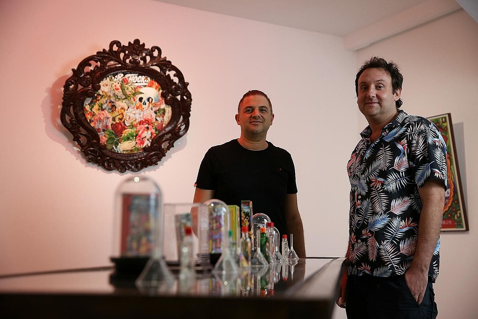 Scent designer Terry Jacobson (left) teams up with multimedia designer Mojoko (right) for Sick Scents.