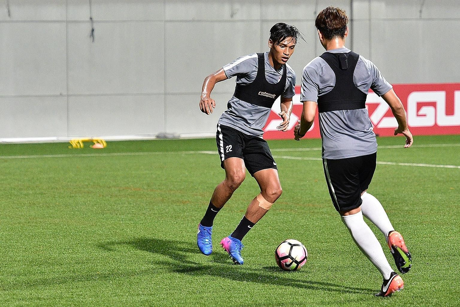 The Lions will be counting on Khairul Nizam (left) and Khairul Amri to deliver the goods as the only two natural forwards called up to the squad.