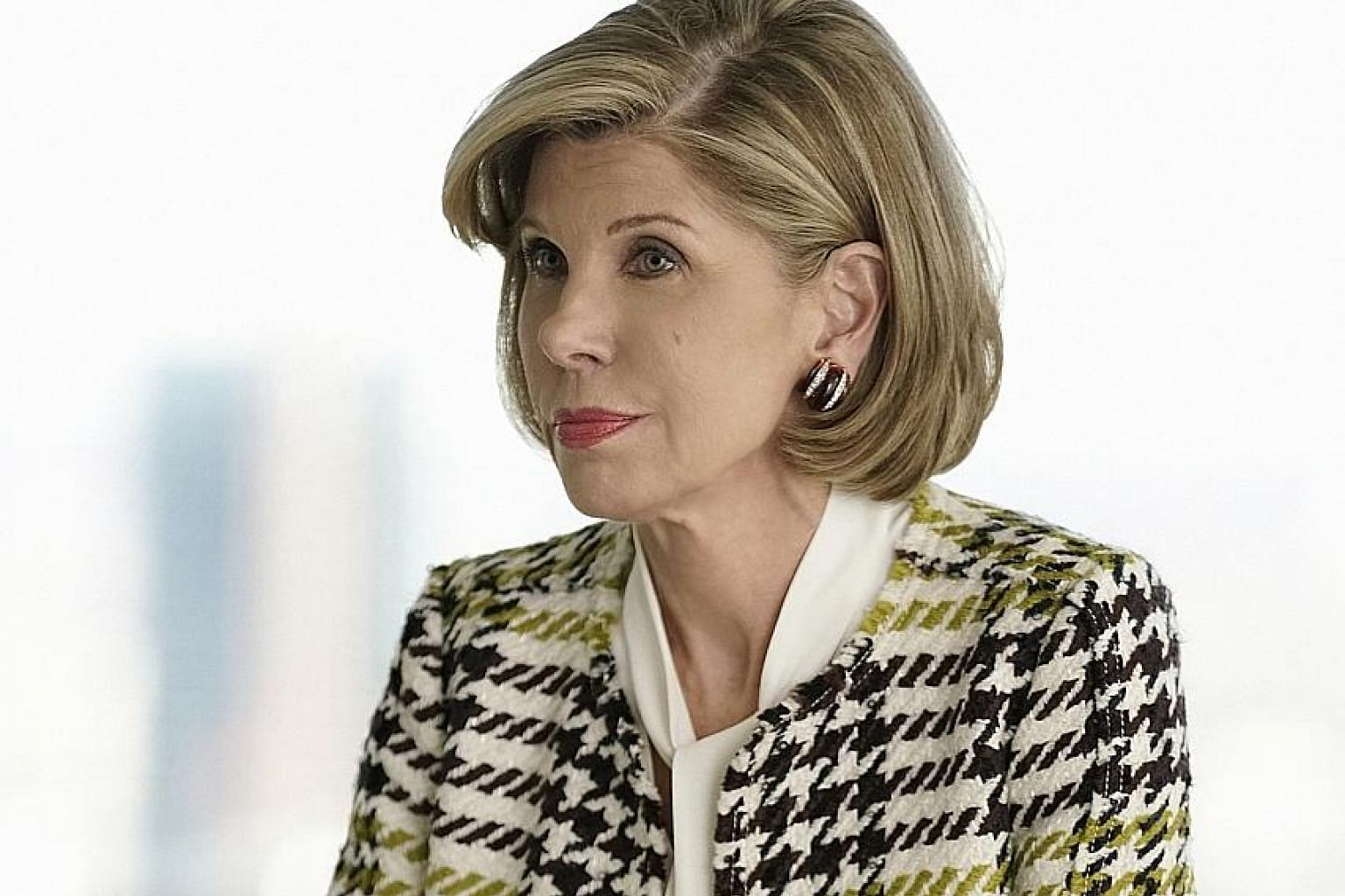 In The Good Fight, award-winning actress Christine Baranski (left) is a lawyer who is forced to start over after she has her life savings wiped out.
