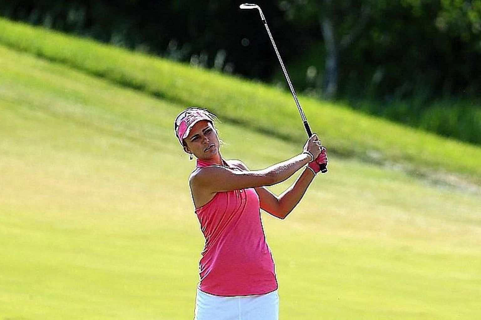 Lexi Thompson of the United States during the third round of the Manulife LPGA Classic at Whistle Bear Golf Club. She said consistency was the key to her performance as her five-under 67 gave her a one-stroke lead.