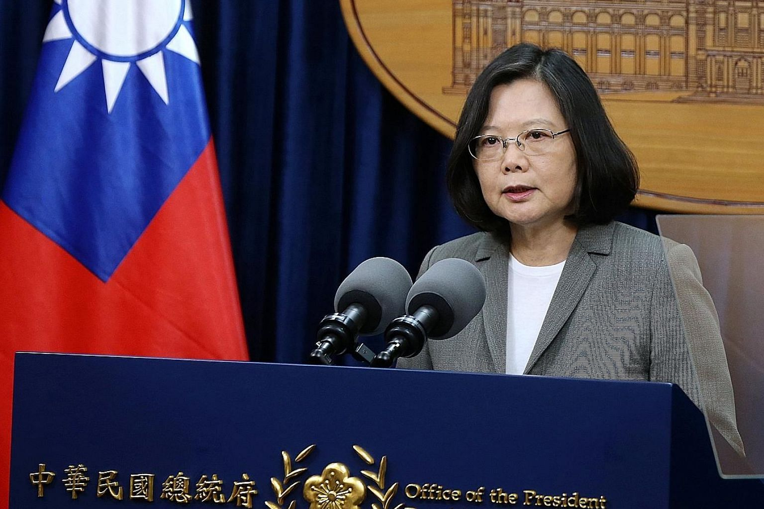 """Taiwanese President Tsai Ing-wen called Panama's move """"unacceptable for the Taiwanese people""""."""