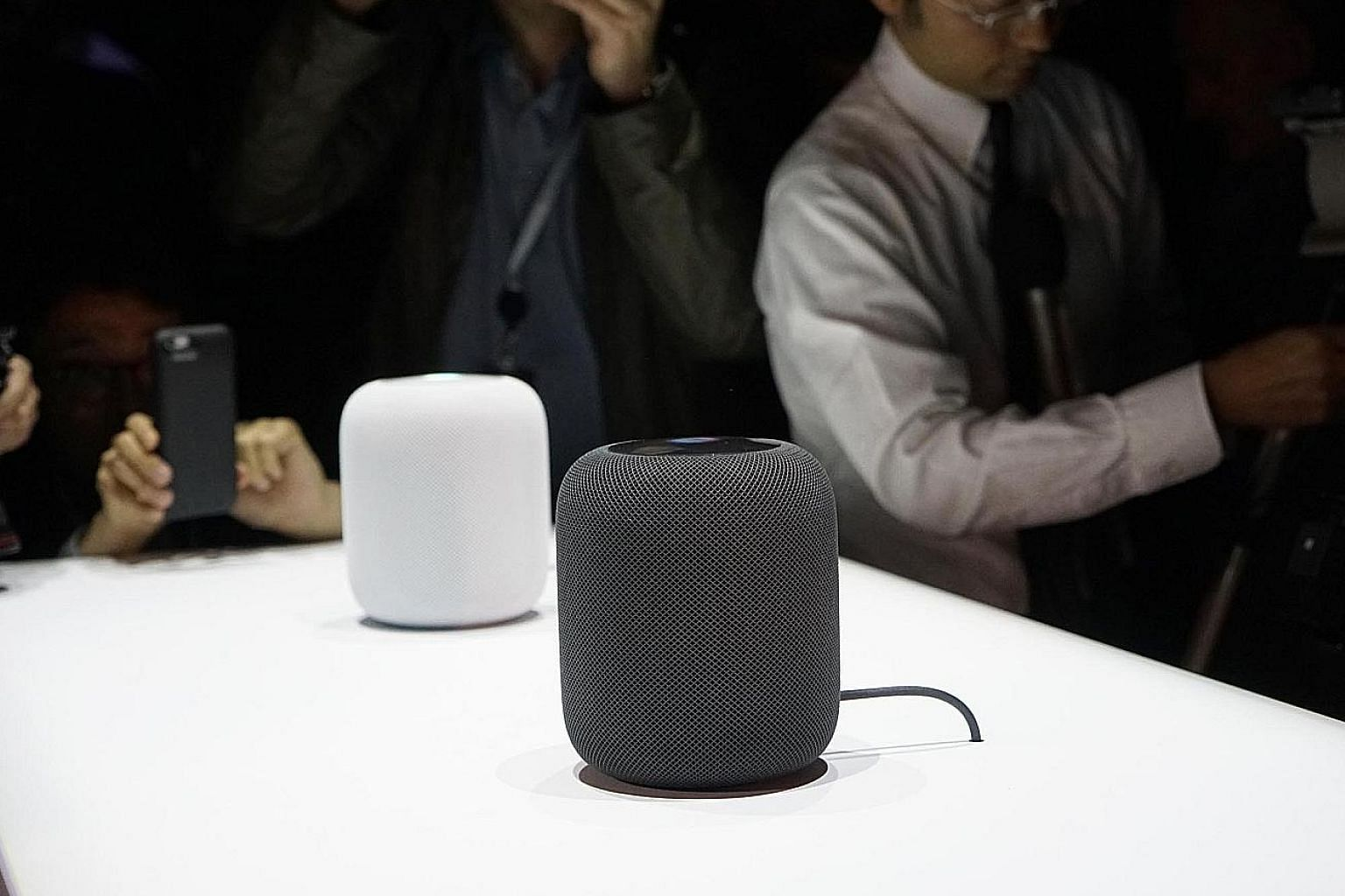 HomePod smart speakers on display at WWDC 2017 last week. While the product will not be available till December, the early announcement shows Apple wants to prevent buyers from rushing into other voice-activated speakers.