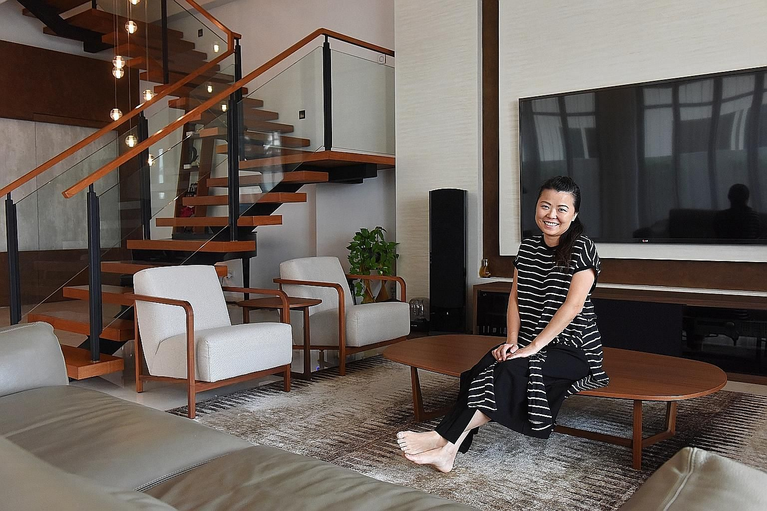 Ms Olive Tai and her husband bought a five-storey cluster house for $1.3 million in 2008, and sold it for $2.3 million in 2011. Ms Olive Tai at her home in Serangoon Gardens. She co-founded Beautiful.me, an online shopping platform for beauty, body c