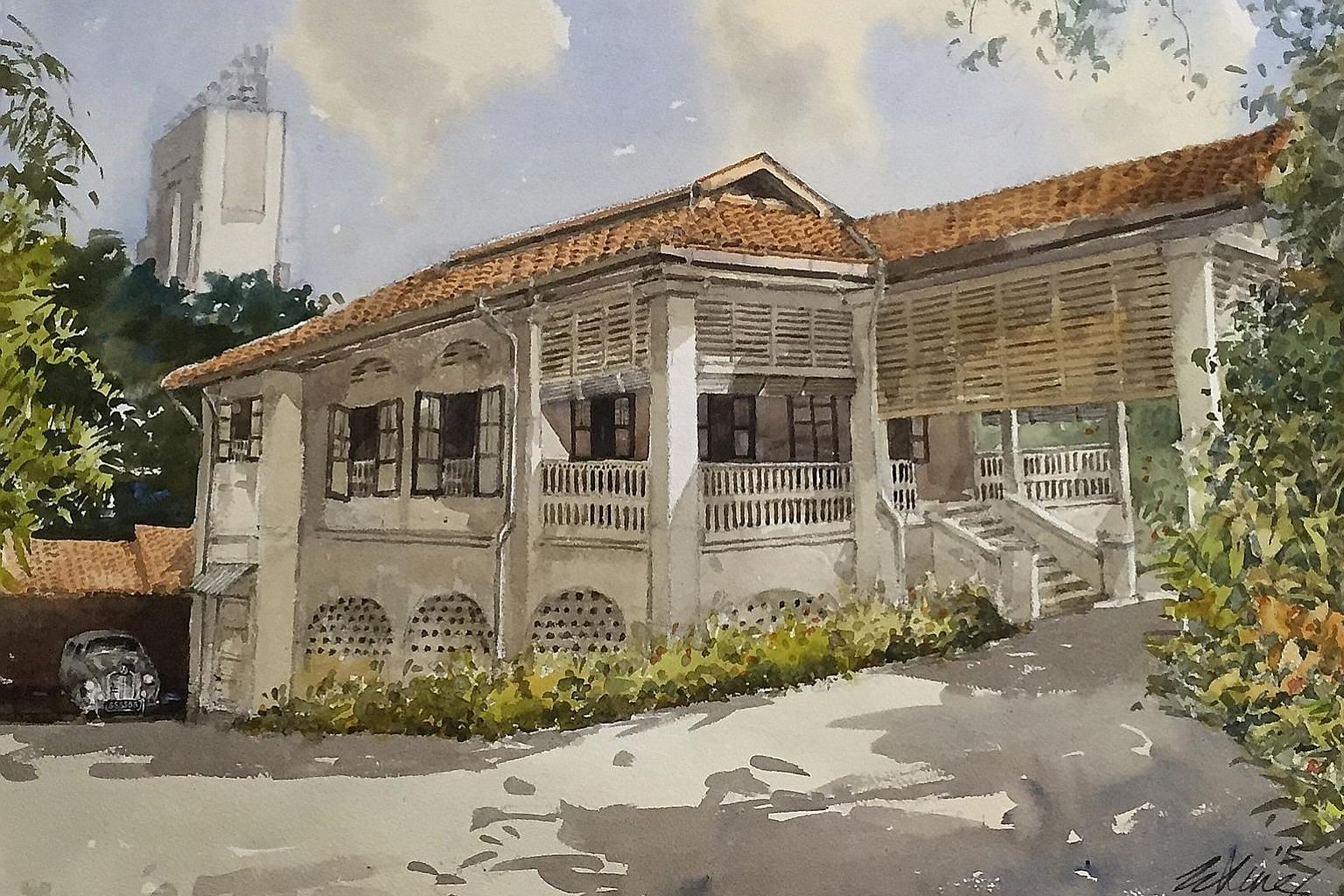 Singapore artist Ong Kim Seng's painting of the house at 38, Oxley Road, featuring it in its original condition in the 1950s. Founding Prime Minister Lee Kuan Yew's legacy is important, but even more important is how a people move forward, beyond the