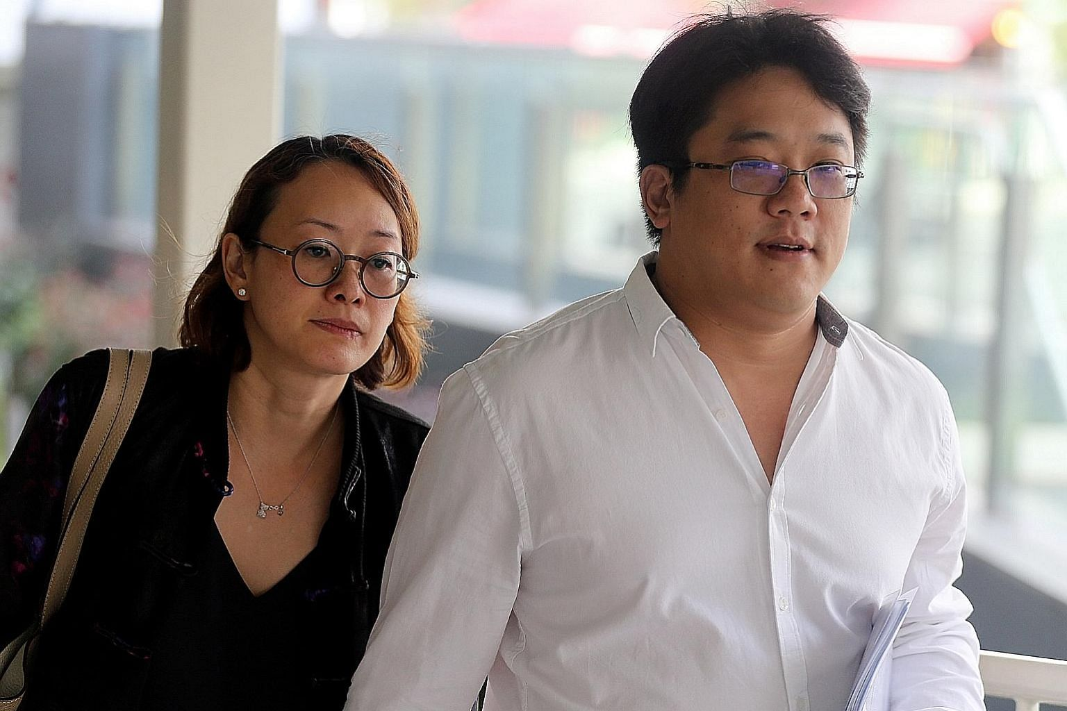 Ong Jenn, seen here with his wife, has pleaded guilty to attempting to be in possession of cannabis and a cannabis mixture. He is now out on bail and will be sentenced on July 12.