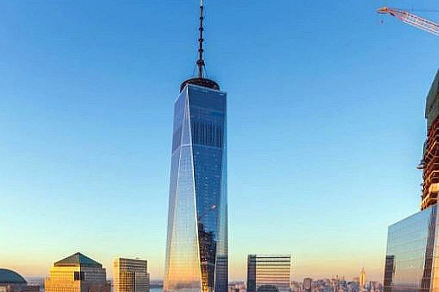 South Korea-born architect Jeehoon Park says the design of One World Trade Center (above) has similarities with a tower he designed in 1999.