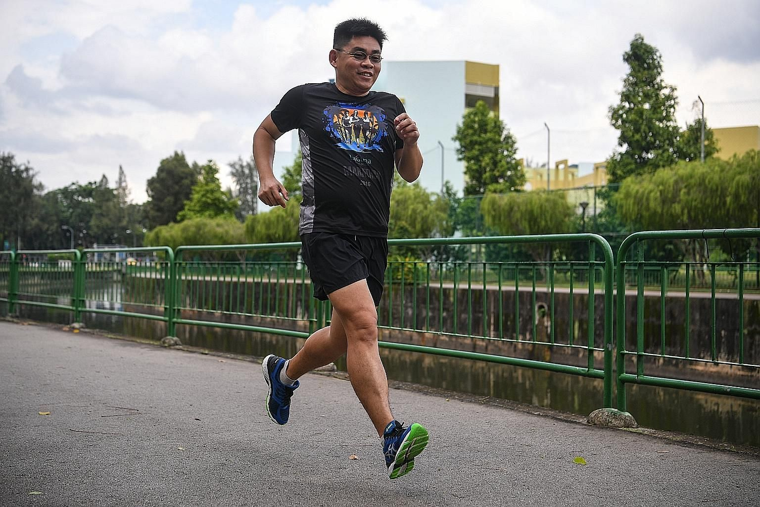Mr Sunny Tan, 41, started taking running seriously during national service. He ran his first marathon when he was 26.