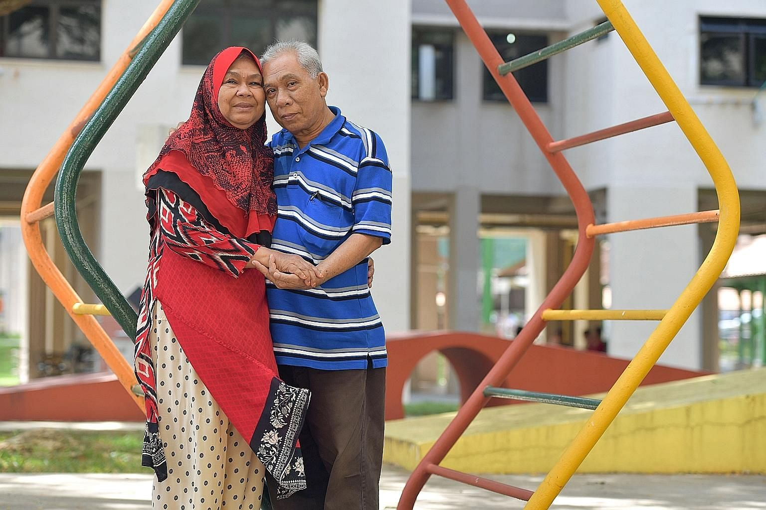 Mr Ismail Sapuan and Madam Mariah Abdul Hamid met in March at a seniors activity centre and got married last month.