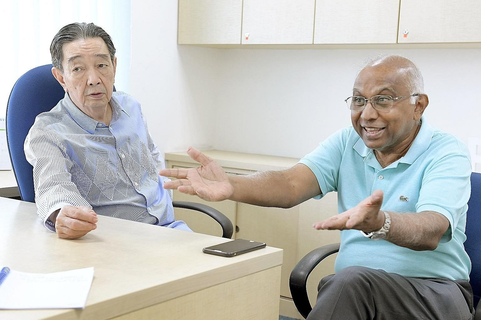 FAS vice-presidents Teo Hock Seng and S. Thavaneson are keen to canvass for opinions and ideas to reshape Singapore's only professional sports competition. One objective is to commercialise the S-League to reduce its dependence on jackpot rooms as it