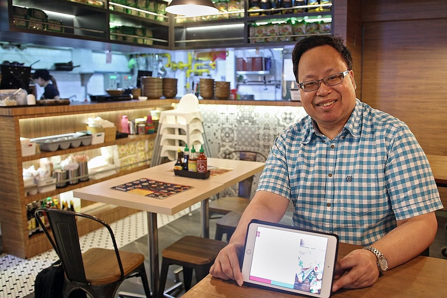 Dr Koh Wee Lit sees more ways in which Habitat Blue's software can help restaurateurs manage their businesses. Currently, the Orca software consists of specialised apps for workers in different roles in a restaurant that help them perform their jobs