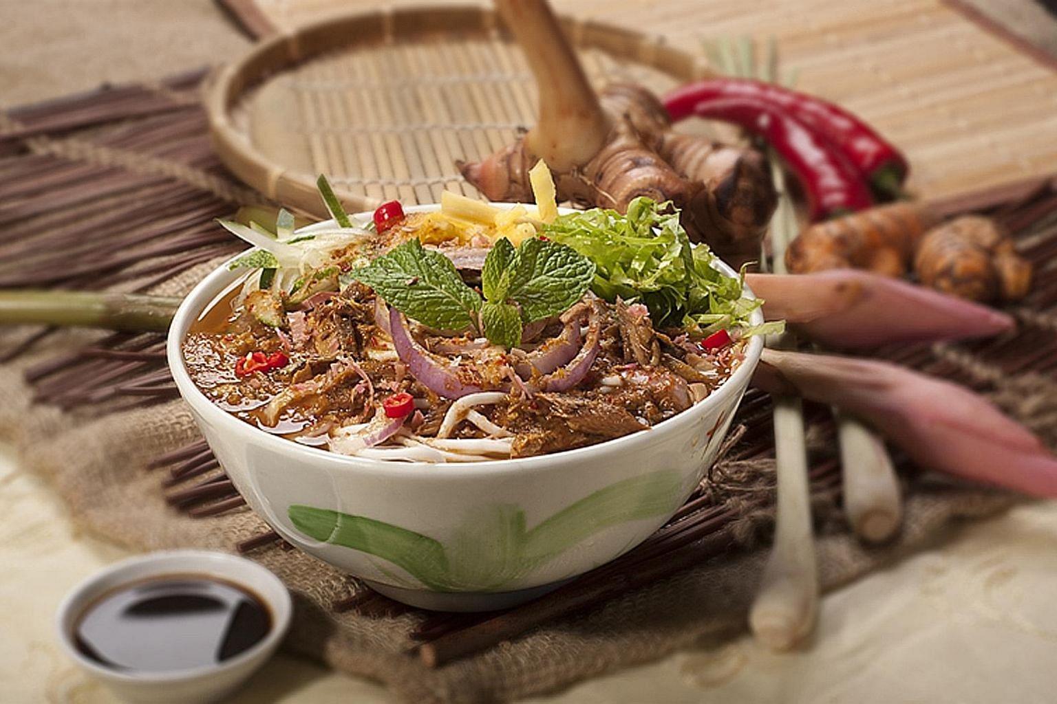 Island Penang Kitchen's assam laksa ($5).