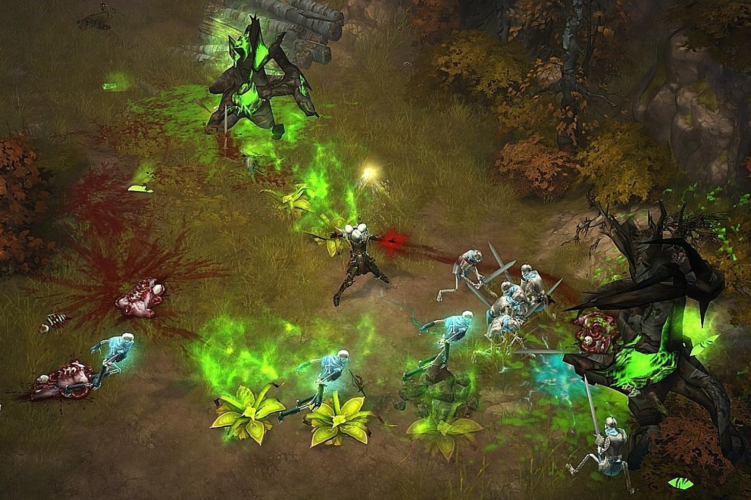 In Diablo III: Rise Of The Necromancer, it is great fun to see your skeleton army doing all the dirty work for you without your character being in the thick of the action.