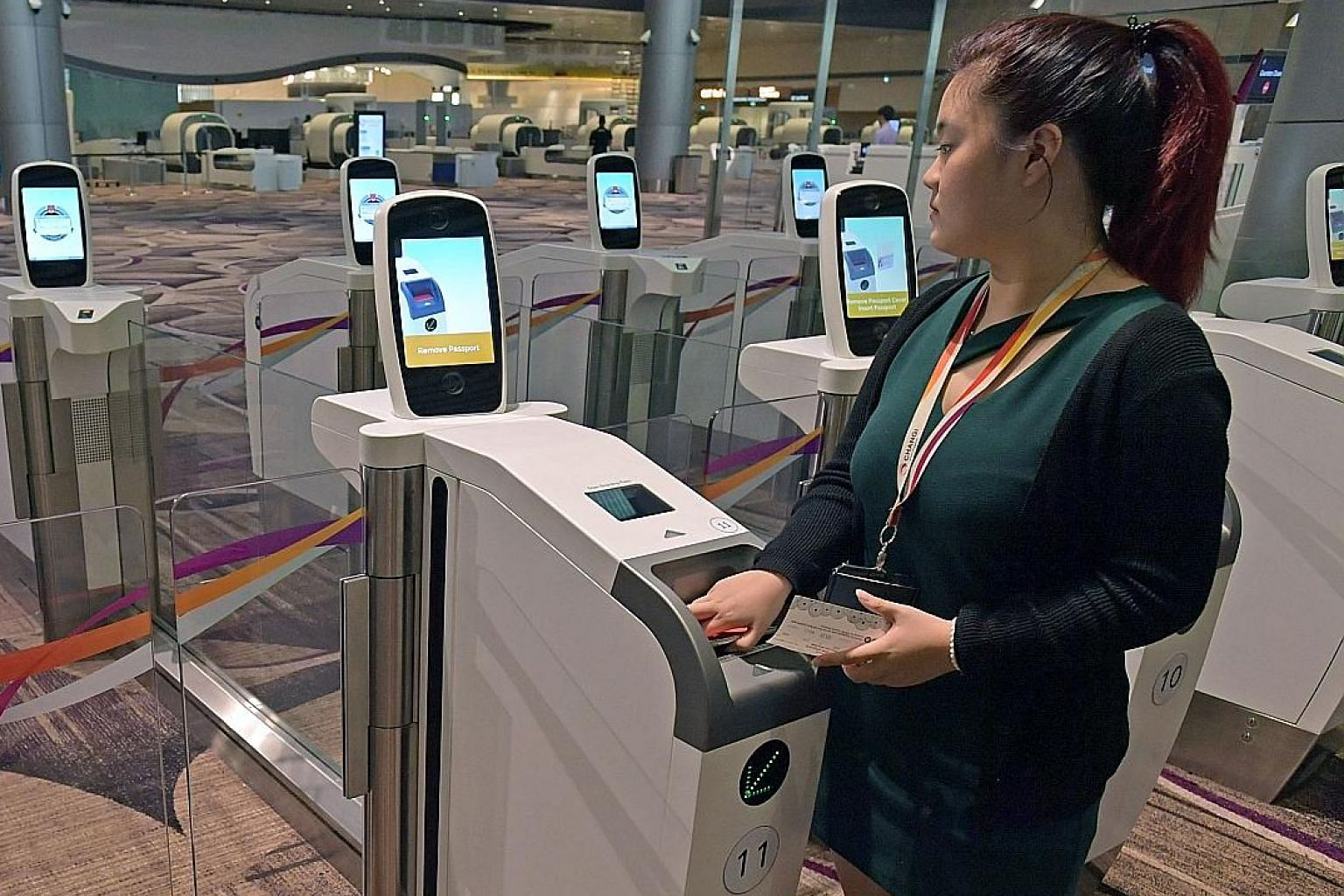 Automated fingerprint and facial authentication machines will allow passengers to clear departure immigration swiftly at Changi Airport's Terminal 4, set to open later this year. On average, the public has snapped up more than six in 10 tickets avail