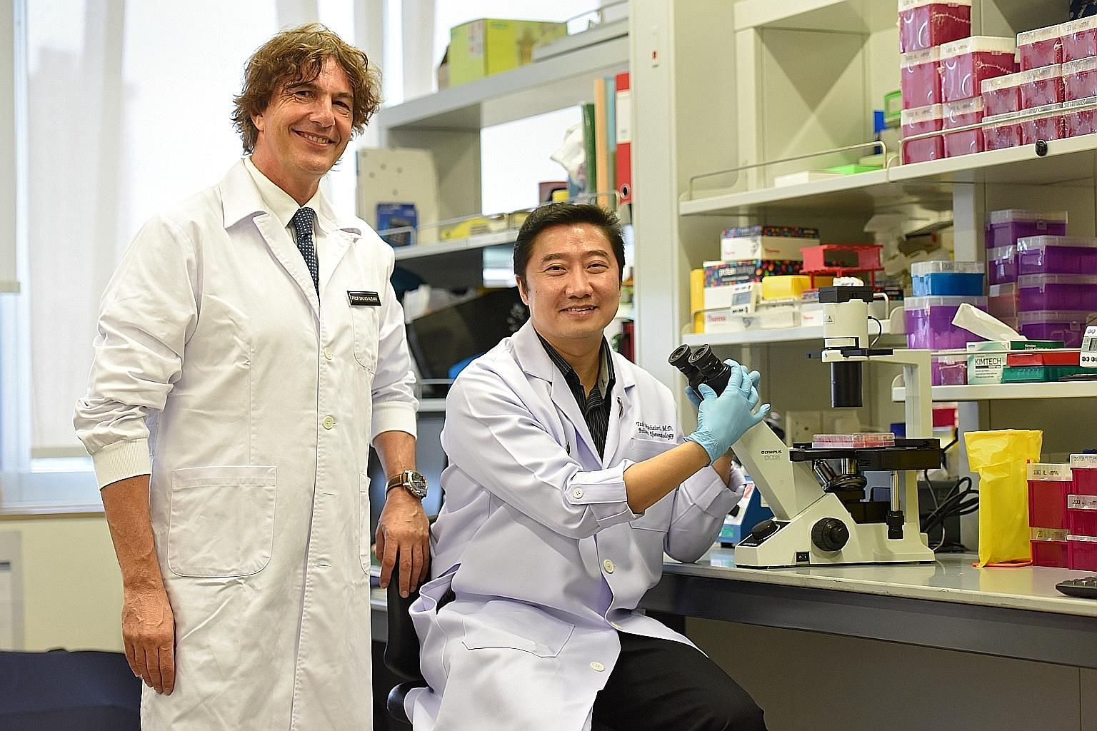 Prof Salvatore Albani and Assoc Prof Thaschawee Arkachaisri hope work on Treg cells will help patients get the best treatment by eliminating ones they will not respond to.
