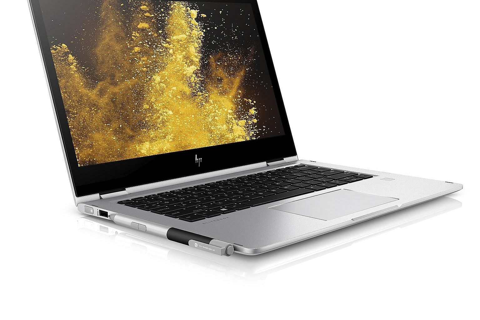 Hit the F2 key and the HP Elitebook x360's screen, dubbed HP Sure View, becomes practically opaque when viewed from the sides.
