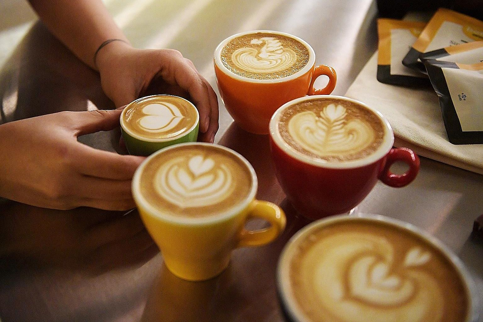 Latte art by Bettr Barista, one of the exhibitors at the Singapore Coffee Festival.